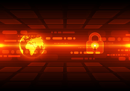 Abstract security digital technology background Illustration