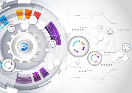 ベクトルの抽象的な背景のデジタル技術の概念