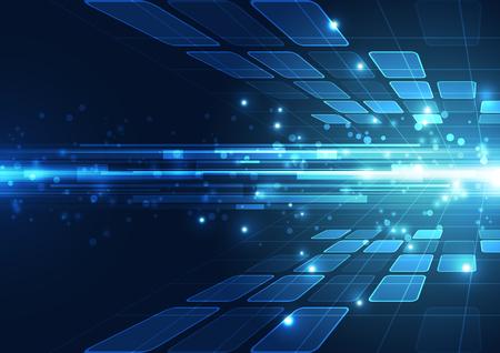 Vector concepto de tecnología digital, fondo abstracto