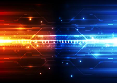 Concetto di tecnologia digitale vettoriale, sfondo astratto