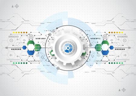 vecteur fond abstrait communication concept technologie numérique Vecteurs