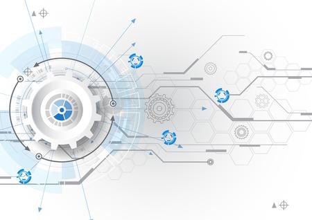 Vecteur fond abstrait communication concept technologie numérique Banque d'images - 60191016