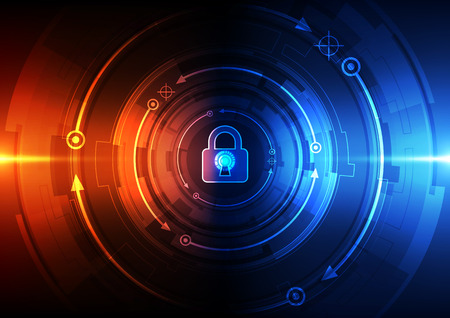 stealing data: Abstract security digital technology background. Illustration Vector