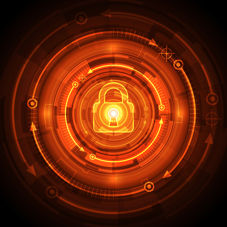 hacked: Abstract security digital technology background. Illustration Vector