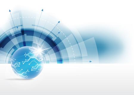 Wektor globalnej koncepcji technologii cyfrowych, abstrakcyjne tło Ilustracje wektorowe
