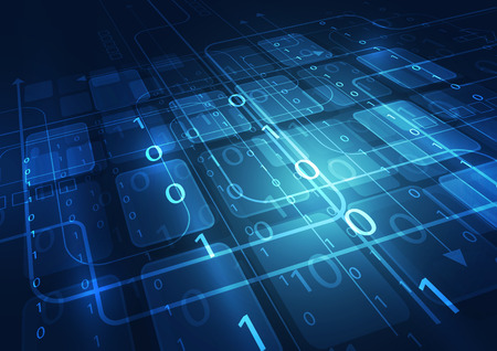 tecnologia astratto sfondo digitale, illustrazione vettoriale