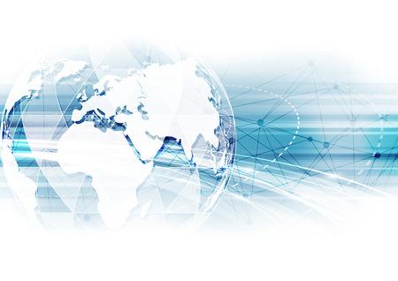 Vector digitale wereldwijde technologie concept, abstracte achtergrond Stockfoto - 60191196