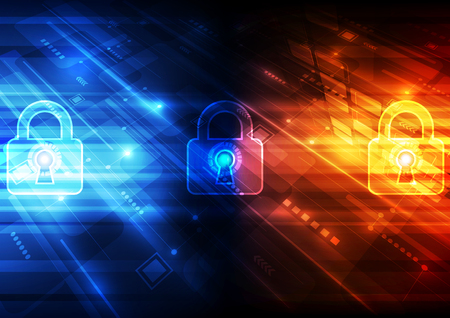 digital background: Abstract security digital technology background Illustration