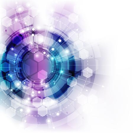 digital background: digital technology concept, abstract background Illustration