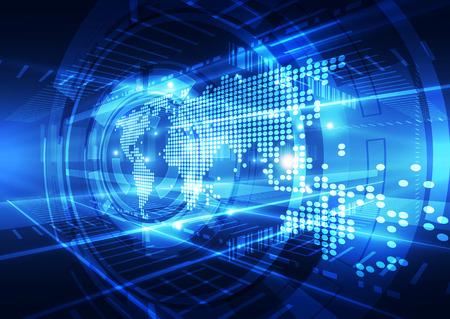 vettore concetto di tecnologia digitale globale, astratto