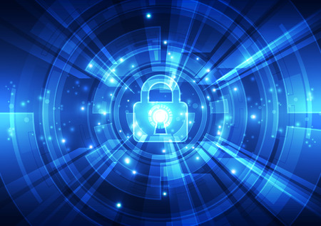 decryption: Abstract security digital technology background. Illustration Vector