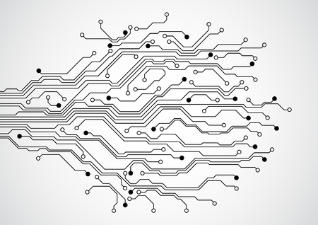 printed: Abstract futuristic technology circuit board concept background , vector illustration Illustration