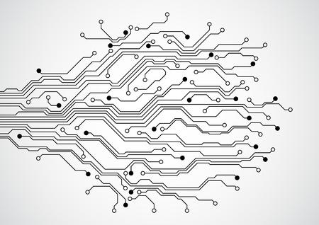 Abstract futuristic technology circuit board concept background , vector illustration Ilustração
