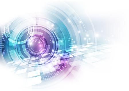 wektor koncepcja technologii cyfrowej prędkości, abstrakcyjne tło Ilustracje wektorowe