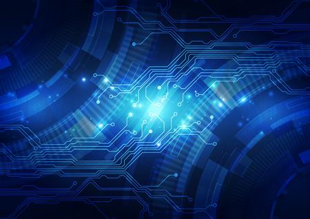 Resumen de tecnología de fondo azul. Ilustración del vector.