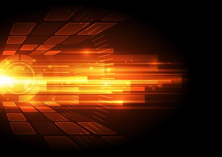 luz roja: vector de la tecnología digital de la velocidad concepto, resumen de antecedentes Vectores