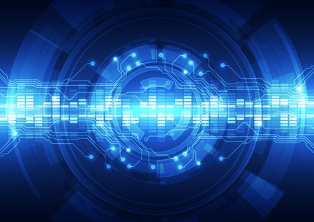 astratto vettore alta tecnologia internet ad alta velocità sfondo illustrazione Vettoriali