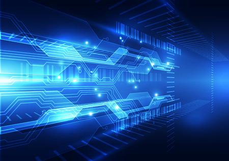 Abstrakter Geschwindigkeitstechnologie-Konzepthintergrund, Vektorillustration