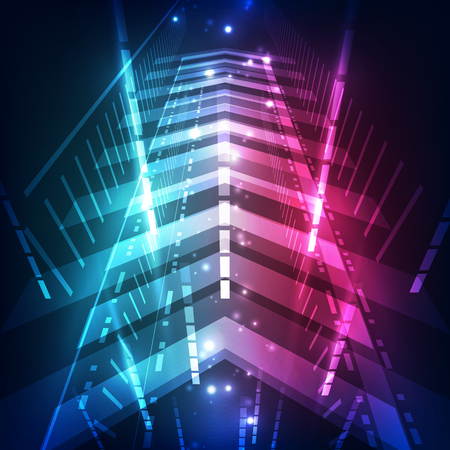 speed: Abstract speed digital technology concept background, vector illustration