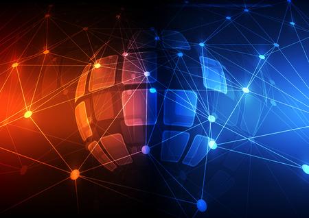 digital background: vector digital global technology concept, abstract background Illustration