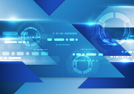 impulse: Abstract technology blue background. Vector illustration.