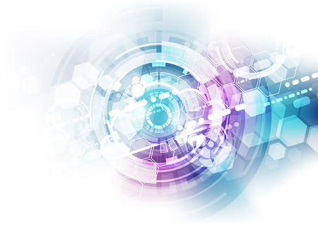 Abstract technology blue background. Vector illustration.