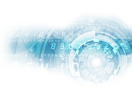 Abstrakte digitale Technologie. Vektor-Hintergrund Standard-Bild - 64882035