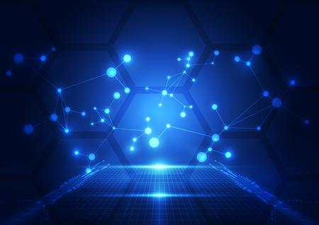 Zusammenfassung Technologie blauen Hintergrund. Vektor-Illustration.