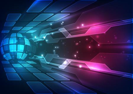 Abstrakte Zukunftstechnologie