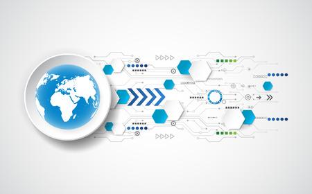 red informatica: la tecnología del futuro concepto abstracto de fondo, ilustración vectorial