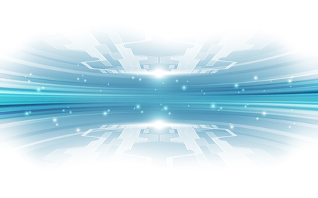 Concetto di tecnologia vettoriale astratta blu. illustrazione di sfondo Vettoriali