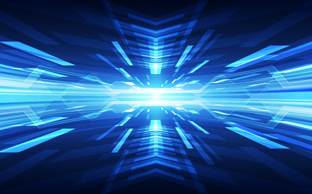 Abstract blue technology concept illustration.