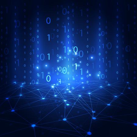 Abstrakte Technologiesicherheit auf Hintergrund des globalen Netzwerks, Vektorillustration Standard-Bild - 89500588