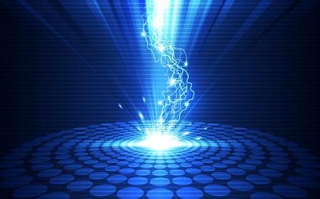 Fondo abstracto de la tecnología del relámpago, ilustración del vector