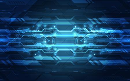 Vector abstracto futurista de alta velocidad, Ilustración concepto de fondo colorido de alta tecnología digital