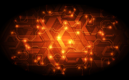 Vector circuit board technology background concept.  graphic design illustration