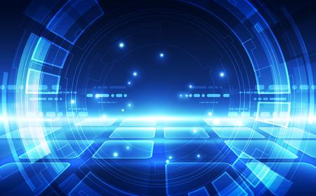 Tecnologia digitale futuristica astratta Vettoriali