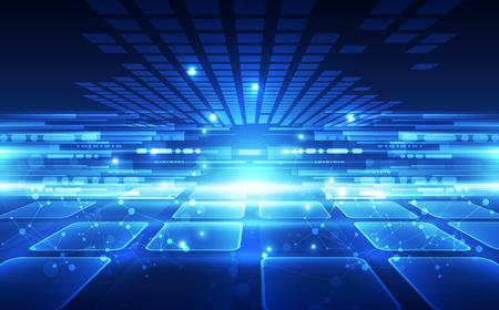 Technologie numérique futuriste abstraite
