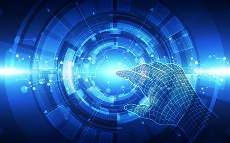 Abstrakcyjna futurystyczna technologia cyfrowa