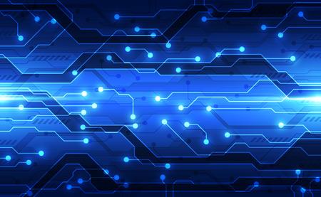 Vektor zukünftiges digitales Schaltungstechnologiekonzept, abstrakt Vektorgrafik