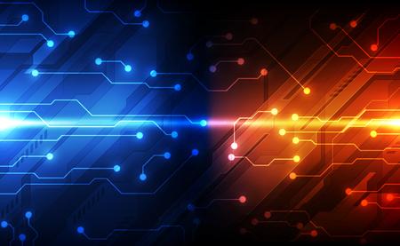 Concepto de tecnología de circuito digital, abstracto