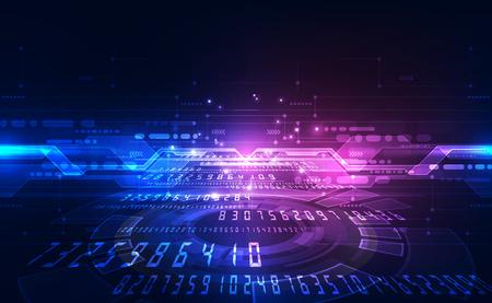 Concetto di tecnologia del circuito digitale, astratto