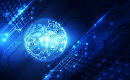 Concept de technologie numérique mondiale, résumé