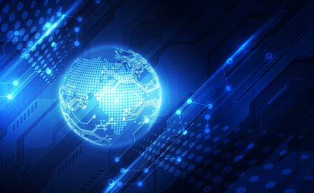 Concepto de tecnología global digital, abstracto