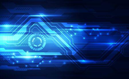 Vector tecnología futurista abstracta