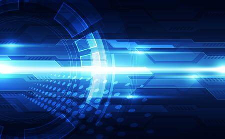Future digital speed technology concept