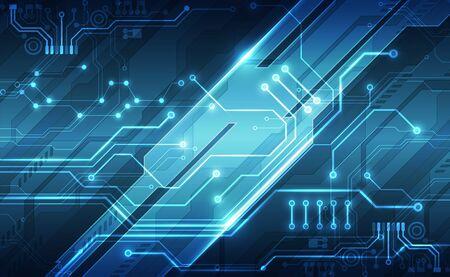 Vektorabstrakte futuristische Technologie Hintergrundkonzept, Illustration hoch digital Vektorgrafik