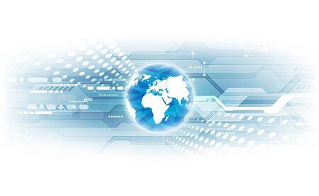 Concept de technologie numérique mondiale, résumé Vecteurs