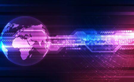 Digital global technology concept Illustration