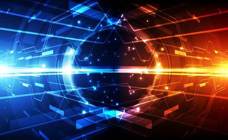 Abstract futuristic digital technology Vector Illustratie